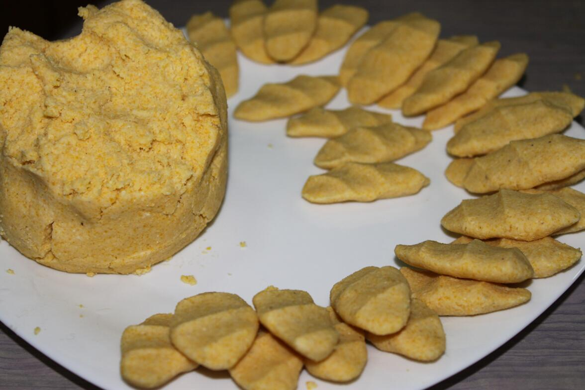 Чеченские блюда, Чеченская кухня, Кукурузные галныш, ахар галныш, кукурузные галушки